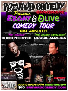 Jan 4, 2020 - Brevard Comedy @The Warehouse Bar- Satellite Beach, FL.