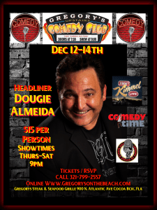 Dec 12-14, 2019 - Gregory's Comedy Club - Cocoa Beach, Fla.